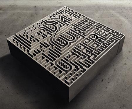 Typographic maze