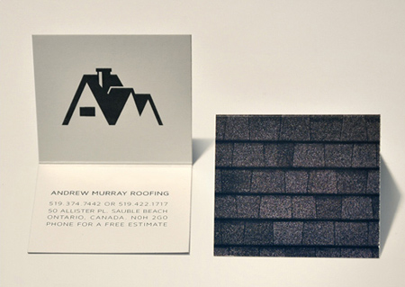 andrew murray roofing business card - Roofing Business Cards