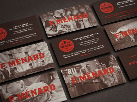 F. Menard butcher corporate identity