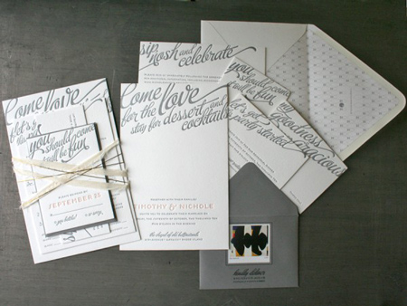 Philatelic Wedding Invitations