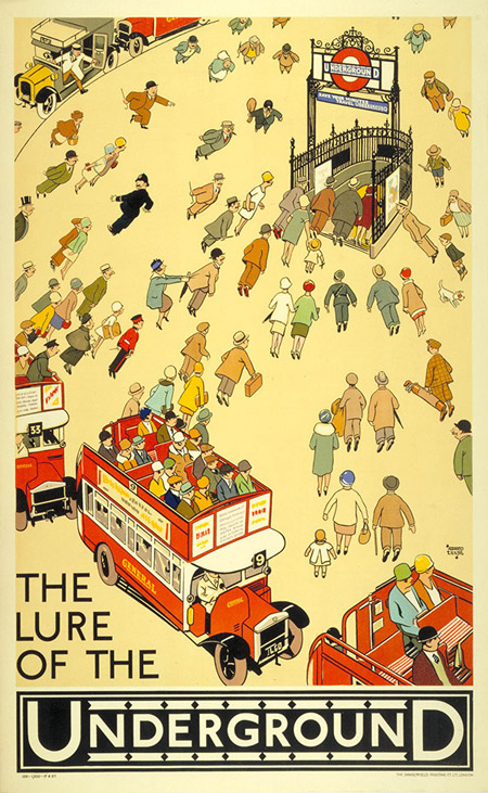124.-The-lure-of-the-Underground-by-Alfred-Leete-1927