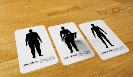Business card for a personal trainer