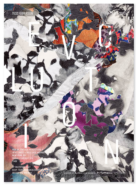 Tess Giberson fashion collection posters Designer Daily graphic