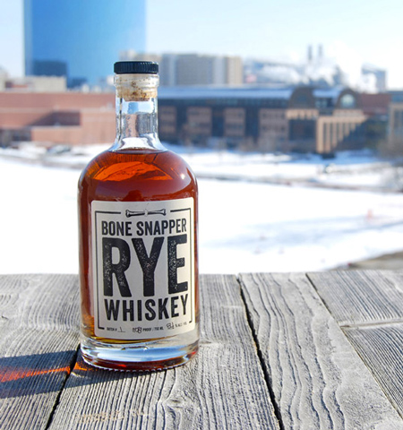 Bone Snapper Rye Whiskey label design