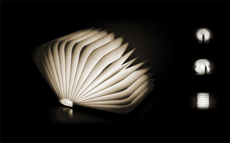 Lumio: a portable light that folds like a book