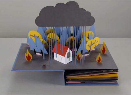 Stop-motion pop-up book