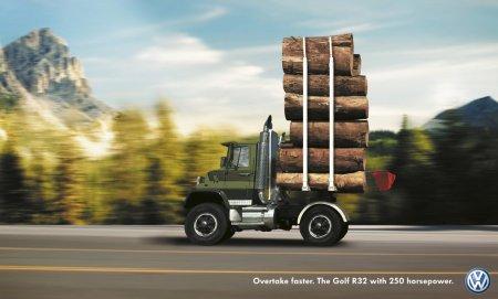 volkswagen r32 ad - wood