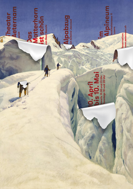 """The Matterhorn is beautiful"" poster"