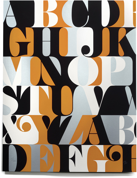 Caslon alphabet prints and alphabets