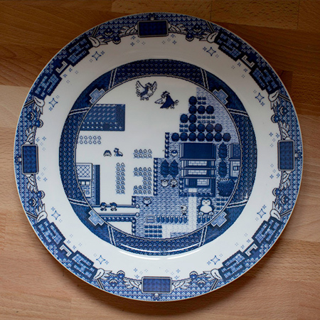 Game boy themed plates by Olly Moss