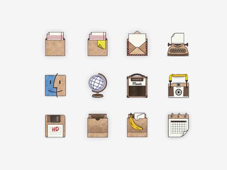 Handmade Mac icons