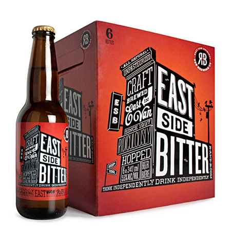 East side bitter beer packaging