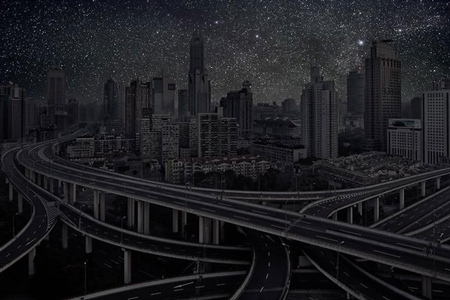Major cities without the light pollution