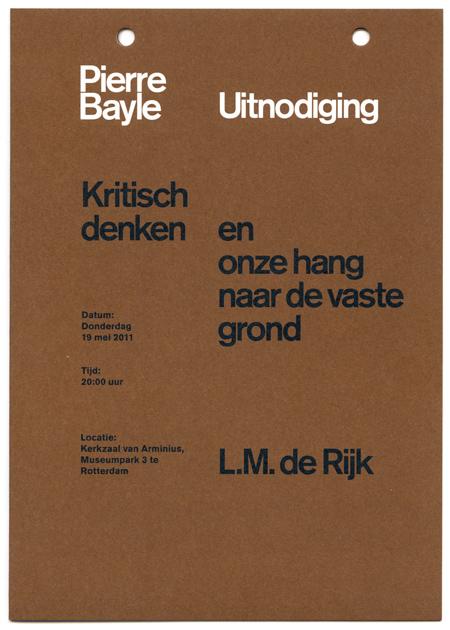 Pierre Bayle Stichting identity