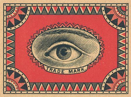 Vintage matchbox artworks