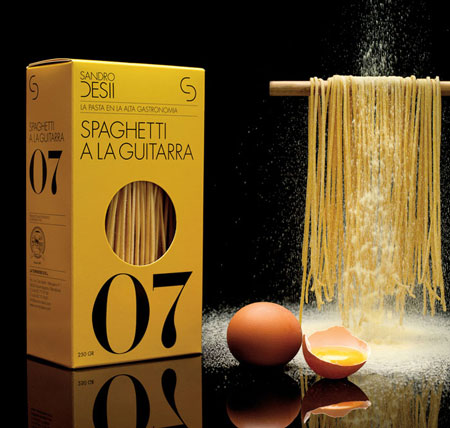 Sandro Desii Pasta packaging