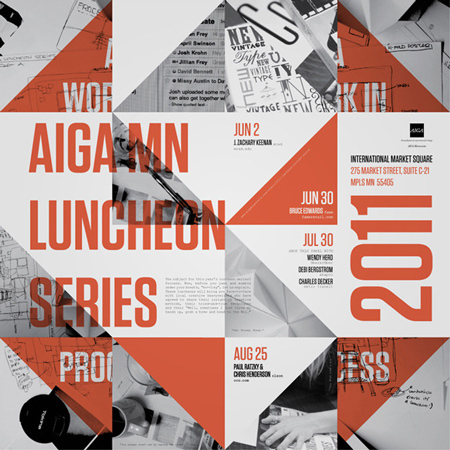 AIGA luncheon series poster