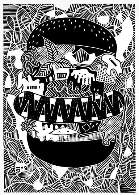 Linocut prints by Lubok Verlag