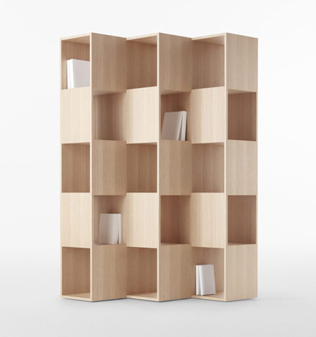 Wooden fold shelf for conde house