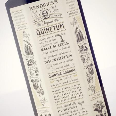 Hendrick's Quinetum label
