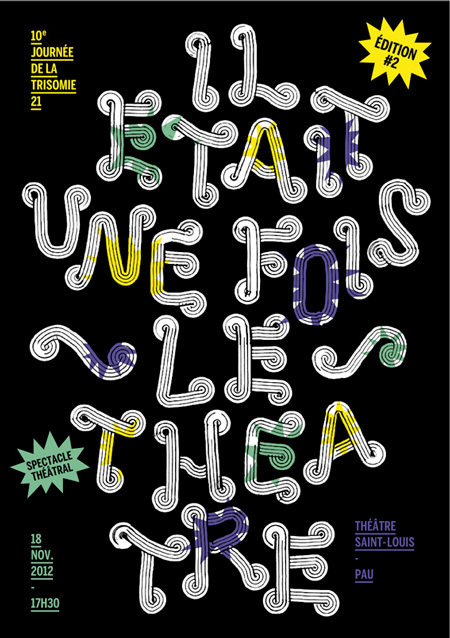 Typographic poster by Thibault Conan