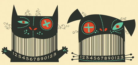 Cool barcodes by Steve Simpson