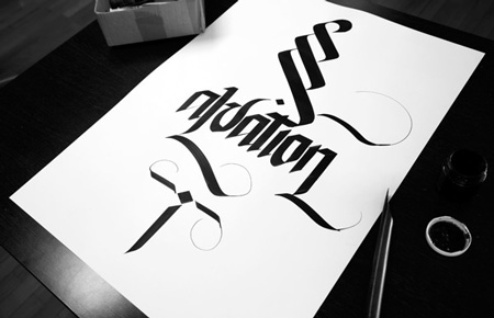 Calligraphy by Simon Silaidis
