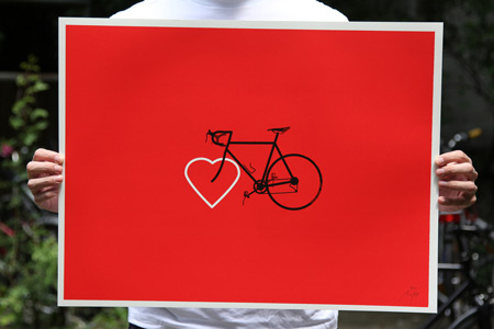 Bike love print by Moritz Resl