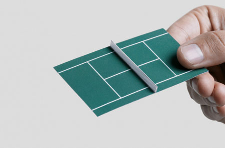 Tennis Court Business Card