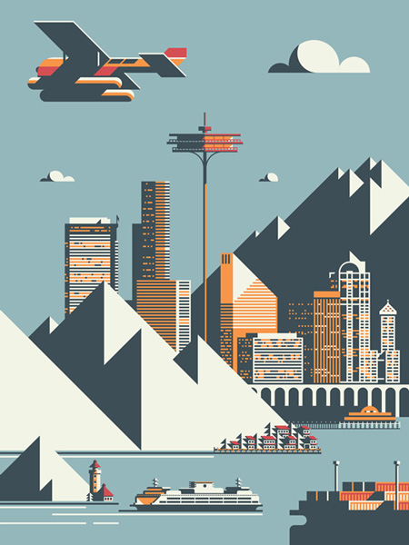 Seattle print by Rick Murphy
