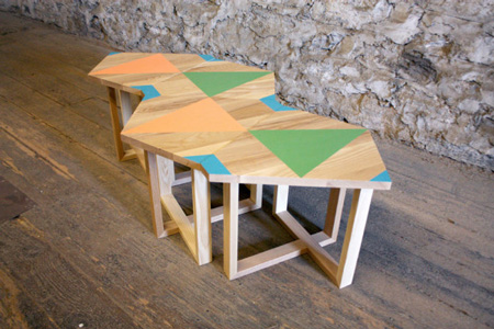 Hand-painted geometric furniture