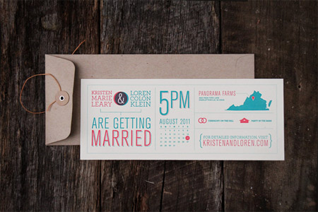 20 examples of Beautiful Letterpress Wedding Invitations