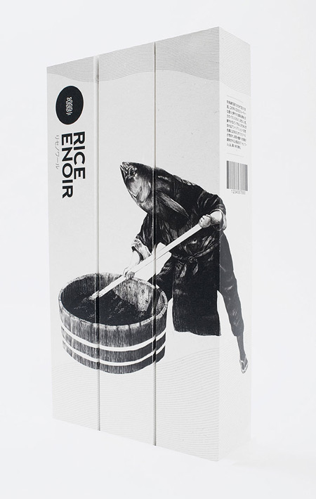Rice Enoir Sake packaging