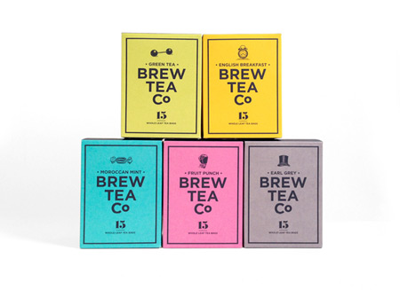 Brew Tea Co packaging