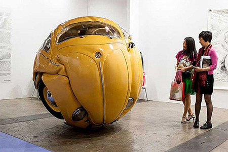 Compressed Beetle Sculpture