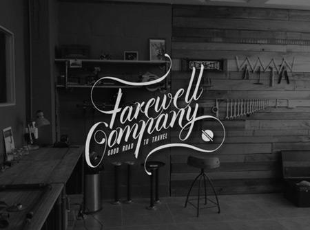 Farewell company branding