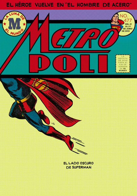 Awesome Superman themed cover for Metropoli