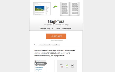 MagPress: a WordPress plugin to create eBooks