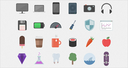 10 awesome flat icons sets