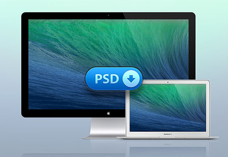 macbook-air-thunderbolt-display-psd