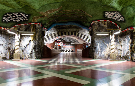 Amazing Underground Art In Stockholm's Metro Station