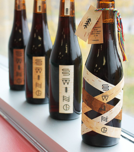 Swing beer packaging