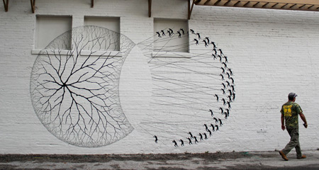 Street art by David de la Mano and Pablo S. Herrero