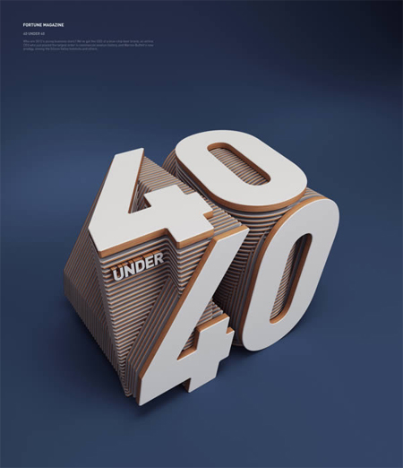 Illustrated 3D type by Rizon Parein
