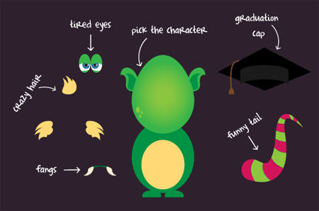 Freebie: the vector monsters kit