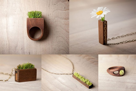 Wood and Grass Jewelry by Mr. Lentz