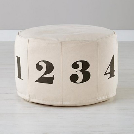 Numbers pouf