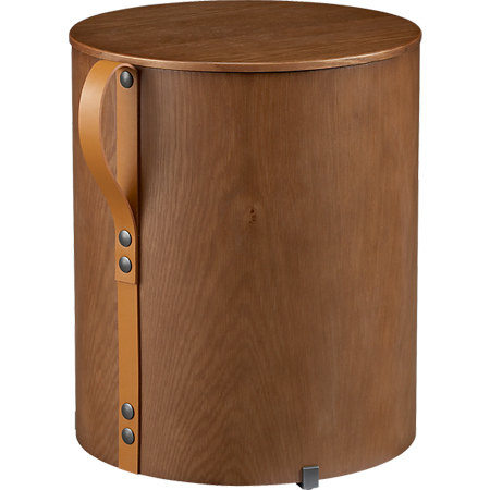 Strap storage side table-stool