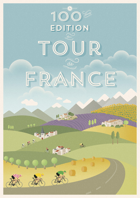 """Tour de France"" poster by Verlee Pieters"