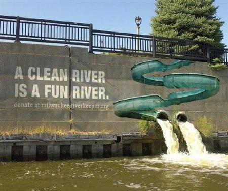 Advertising: a clean river is a fun river